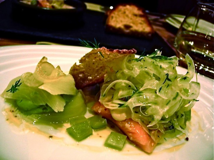 スモーク・トラウトと野菜のピクルス