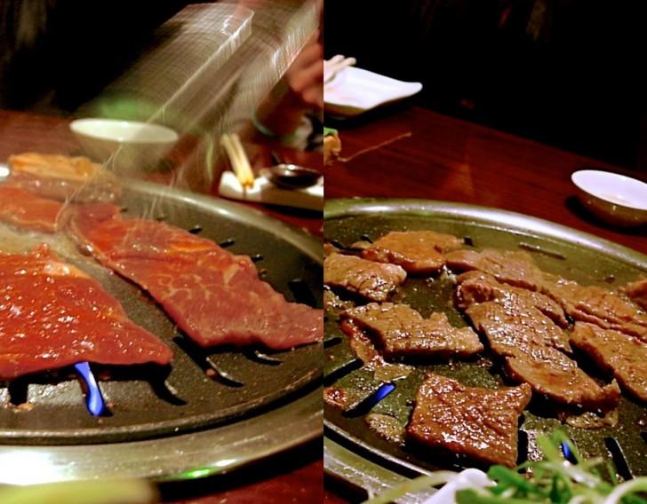 スタッフが焼いてくれる焼き肉