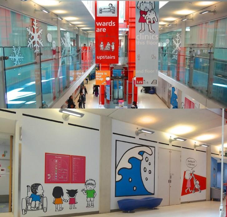 聖トーマス病院付属のエブリーナ小児病院で、玖保キリコさんのイラストが見られる!