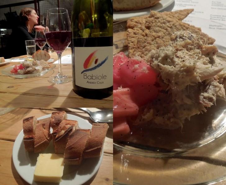 スモーク・マカレルとルバーブ、自家製オーツケーキのハーモニーに酔った ^^ このワインも美味しかった〜