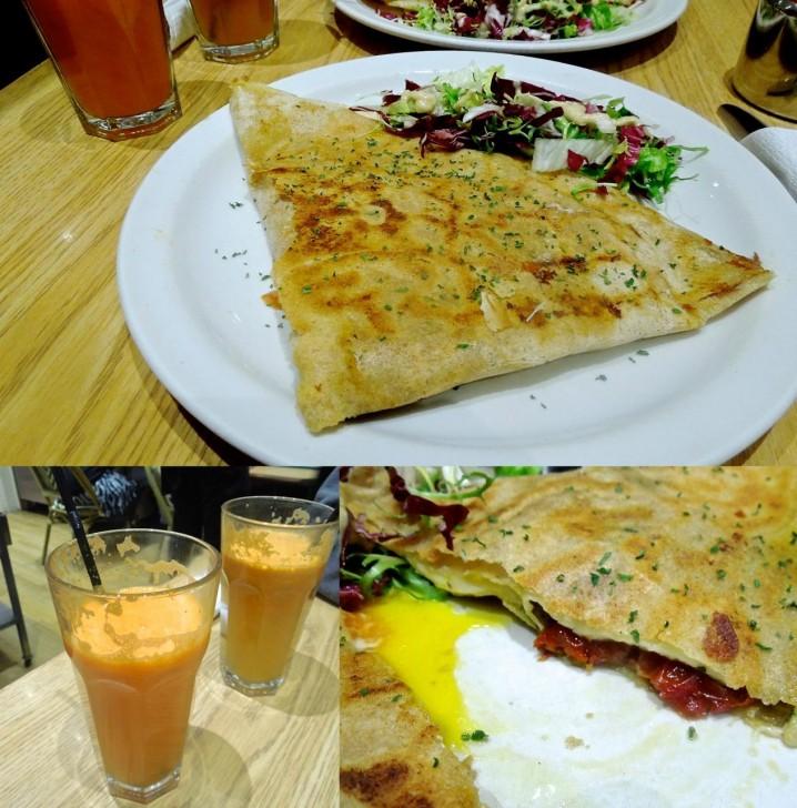 ペスト・ソースで食べるイタリア風と、ラタトゥイユとチーズのプロヴバンス風をシェア。美味しかったです ^^