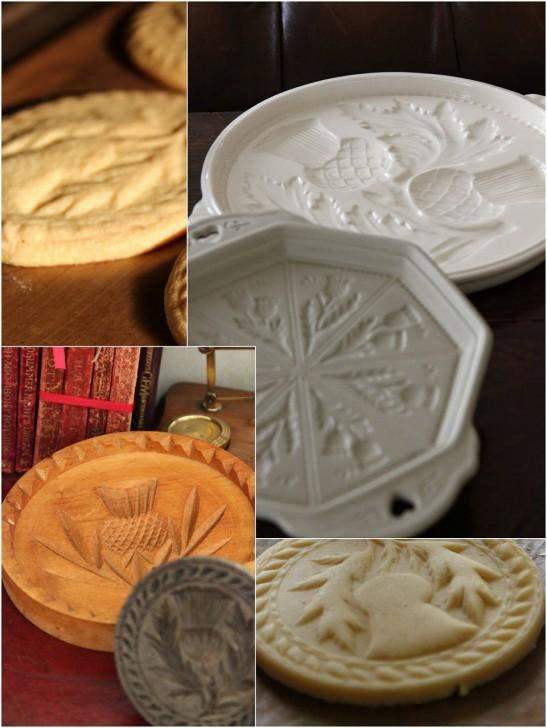 陶器製や木製のショートブレッドの型にはあざみの柄が定番☆