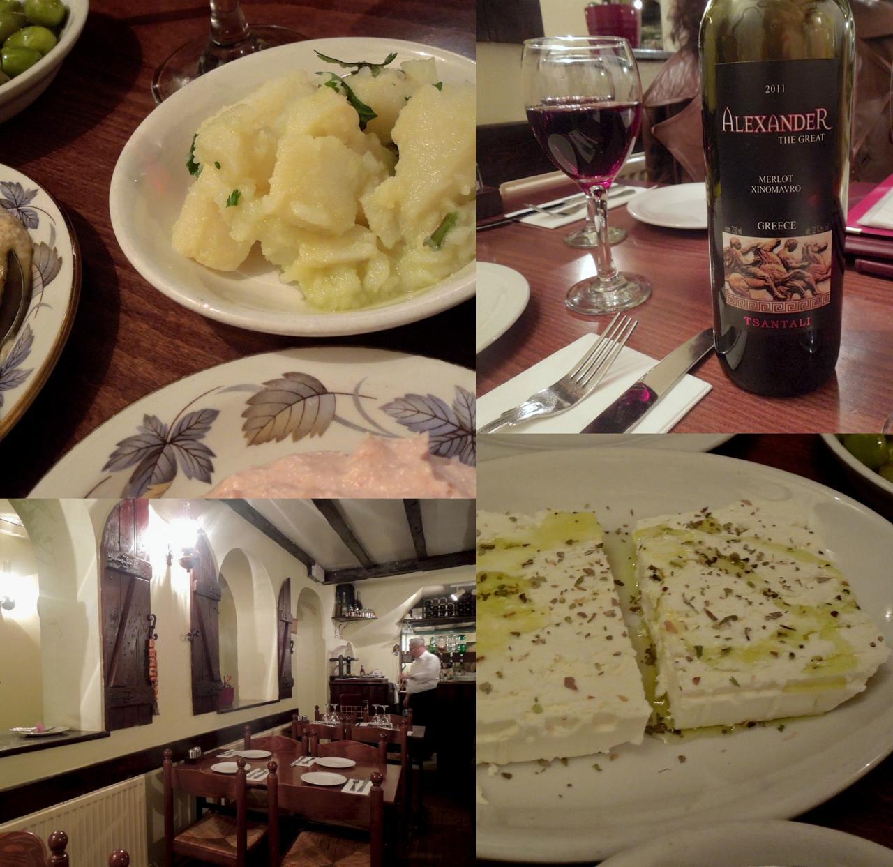 ギリシャ・ワインとメッゼはやっぱり最高 ^^