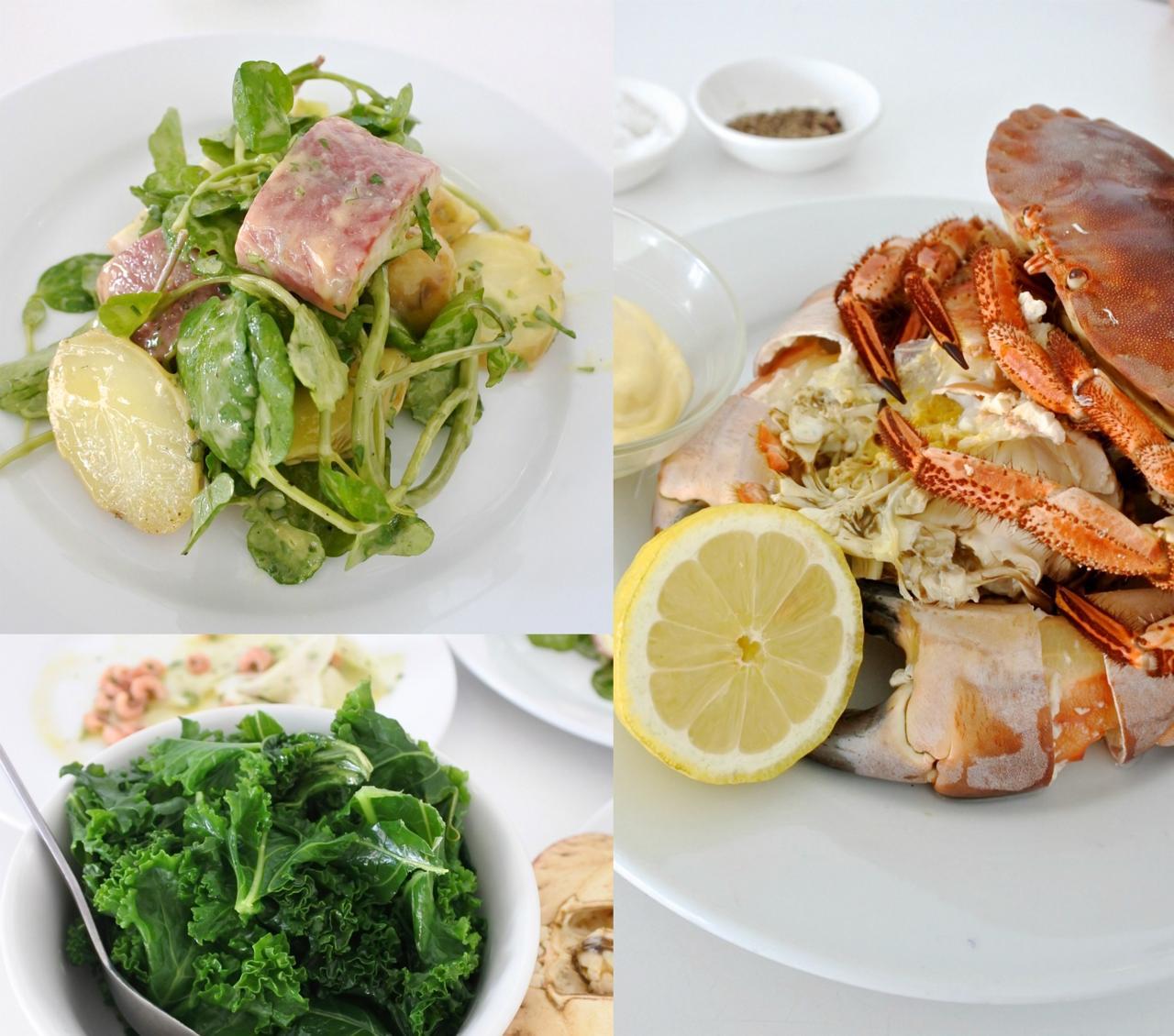 左上はスモークしたウナギのサラダ。日本のウナギとはひと味もふた味も違う、ウナギのコッテリ感を堪能できます