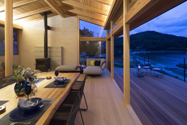 033_Evening view_Living daining terrace