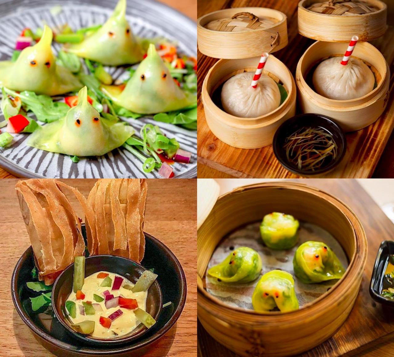 Images from the restaurant's Instagram  右上がPork & Crab Soup Dumplings。擬人化したり、形を工夫したりした点心が楽しい♡