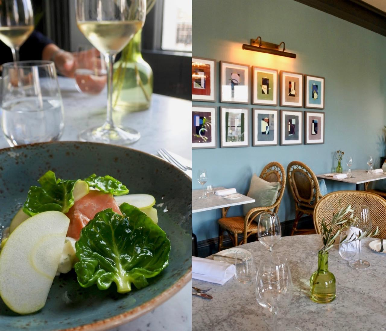 左は前菜の一つで、サーモンのお皿。バランスも良く、とても美味しかったです ^^
